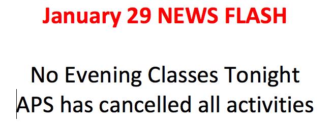 No classes tonight